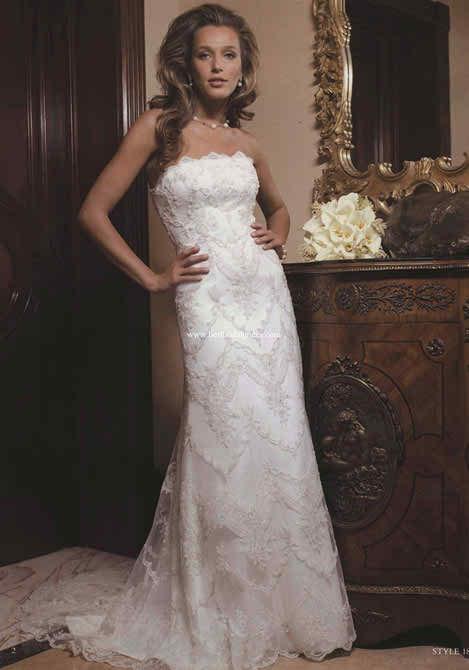 Casablanca strapless wedding dresses 4