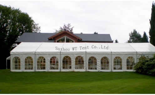 Clear tents for the outdoor wedding ceremonies