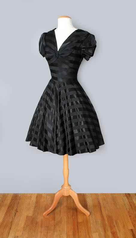 black vintage wedding dress