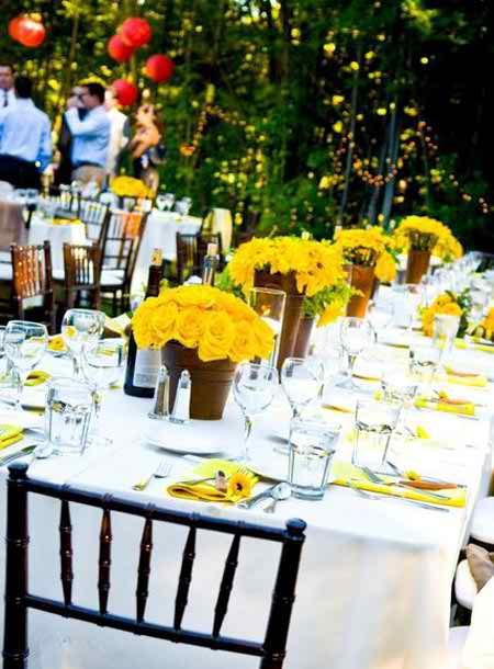 Different Flower Arrangements For The Reception 4