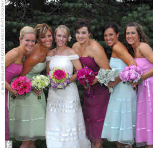 Different colored bridesmaid dresses for my girls