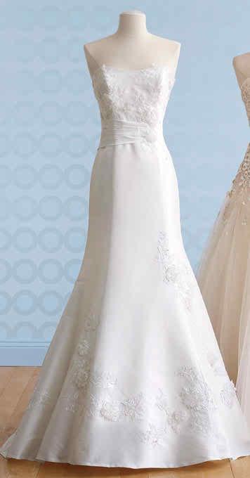 Flattering wedding dress