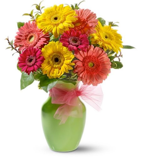 Floral arrangements with germinated wheat for your informal wedding