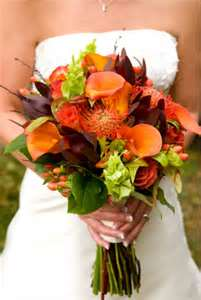 Ideas for Fall Wedding Bouquets