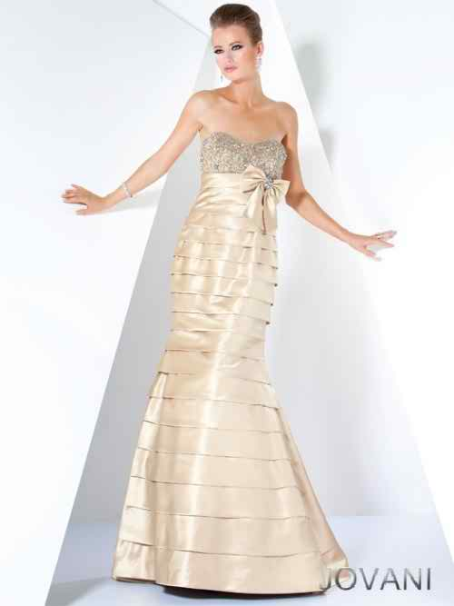 Designer evening dress