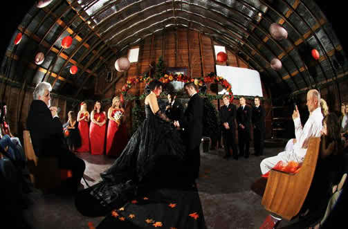 Know how to get an exquisite Halloween bridal image