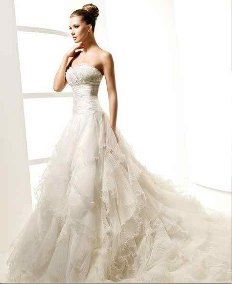 La Sposa strapless wedding dresses 3