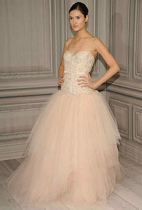 Spring bridal gown