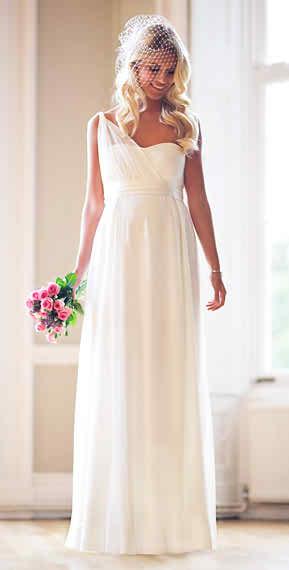 Designer maternity bridal gown