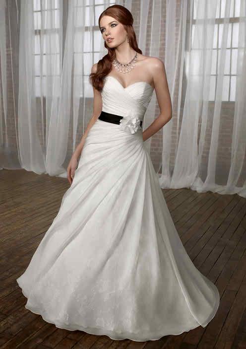 White bridal dress