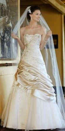 champagne bridal dress