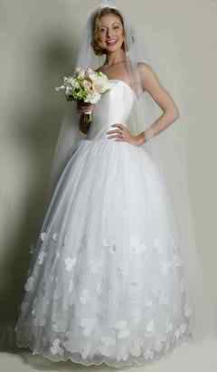 Strapless wedding dress