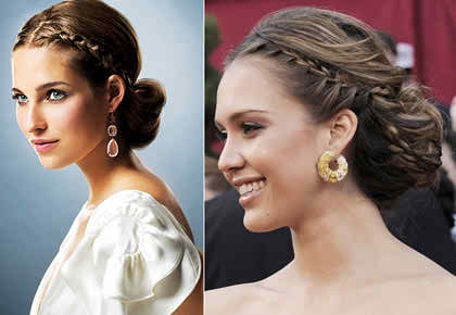 Russian hairstyles for brides