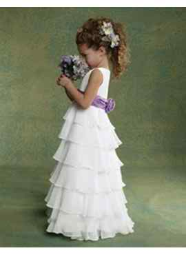 Simple flower girl dress