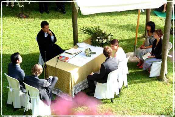 Suggestions for an open air wedding