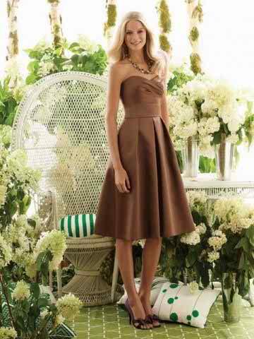 Knee length bridesmaid dress