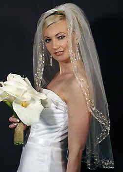 Long bridal veil