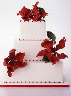 The colours from your wedding ceremony - wedding cake