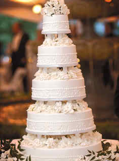 The situations when a white wedding cake is a must