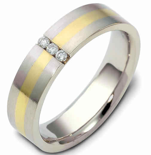 Two toned wedding bands