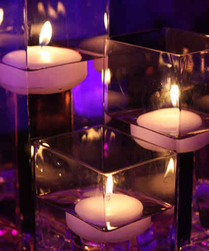 Wedding candles as decorations
