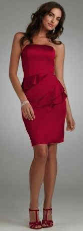 Wear a ruffled bridesmaid dress