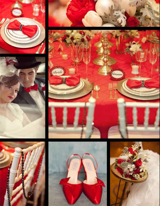 Wedding Color Schemes Ideas for the Wedding Party - White and Red