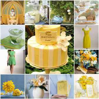 Wedding Color Schemes Ideas for the Wedding Party - Yellow and Green