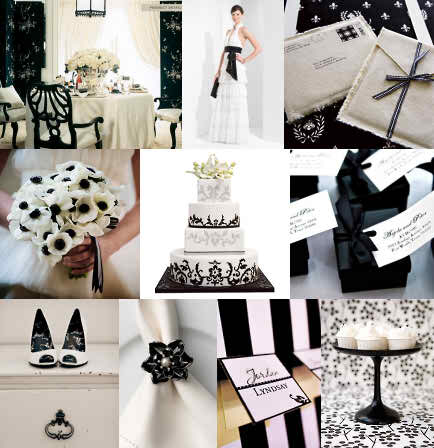Wedding Color Schemes Ideas for the Wedding Party - White and Black