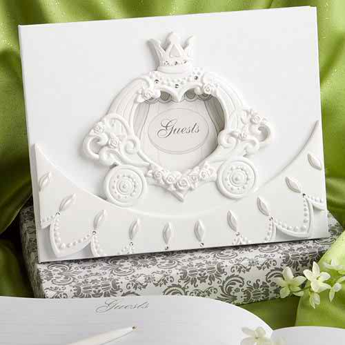 White wedding ceremonies - wedding guest book