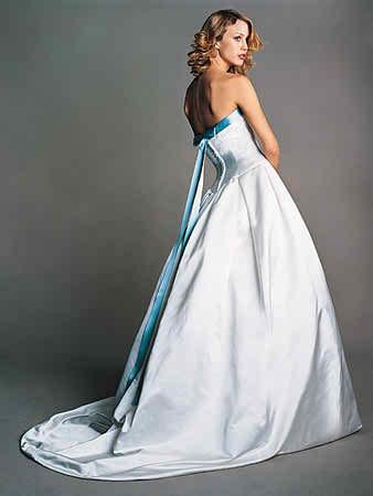blue weding dresses
