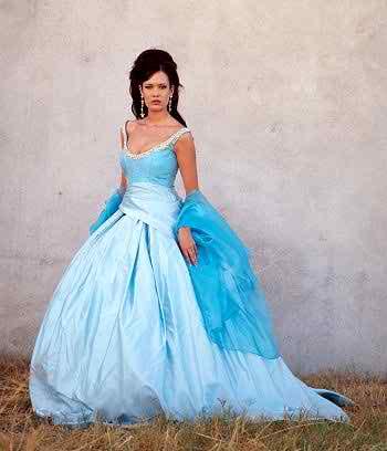 blue weding dresses2