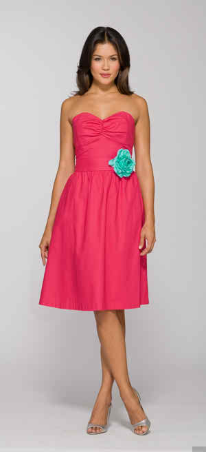 bridesmaid dress for a summer wedding theme
