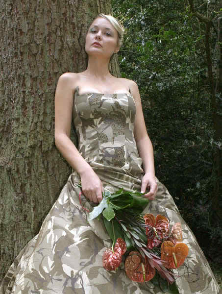 camouflage wedding dresses2