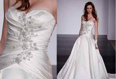 choosing the wedding dress accordingly to height and hair length