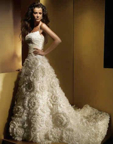 colored Anjolique wedding dresses