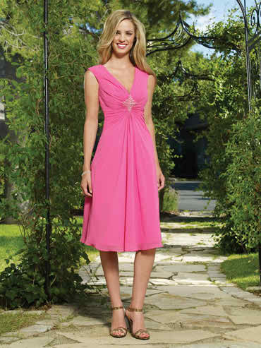 Colored dress for the bridesmaids