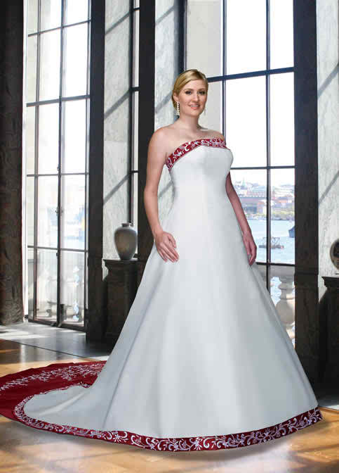 colored bridal gowns