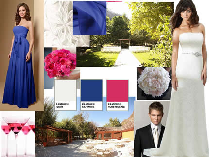 dazzling color combinations for the bridal day