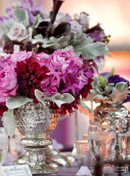 different flower arrangements for the reception 2 3