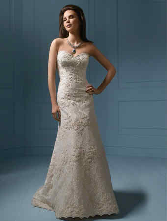different types of bridal gowns depending on the shape