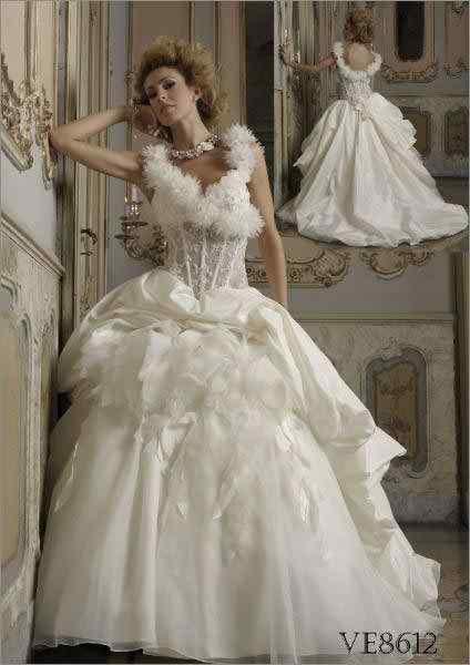 Extravagant wedding dresses