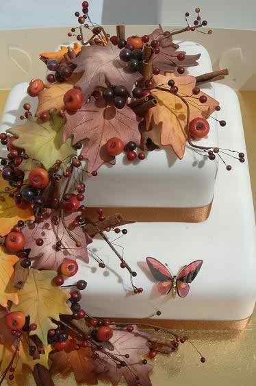 fall theme wedding cakes 2