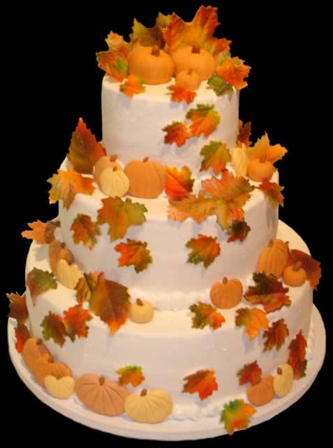 fall theme wedding cakes 3