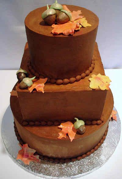 fall theme wedding cakes