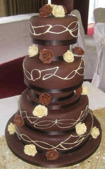 fashionable wedding cakes