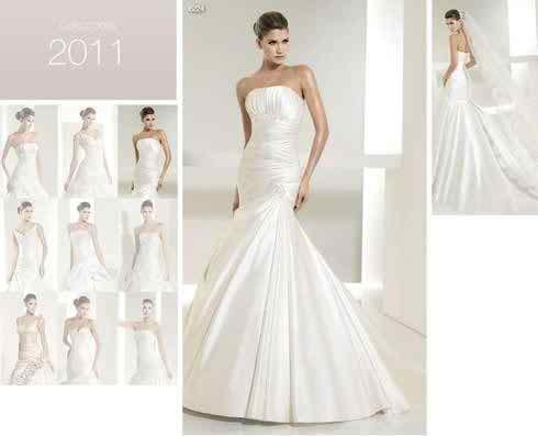 Fine fabric wedding dresses