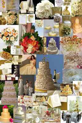 gold theme for a wedding