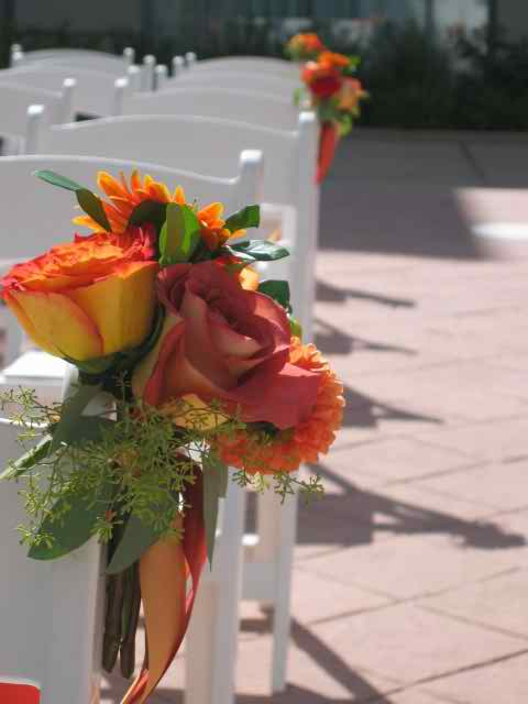 Wedding flower arrangements for the ceremony