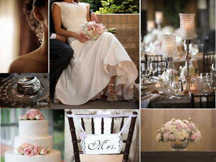 ideas for brown wedding receptions